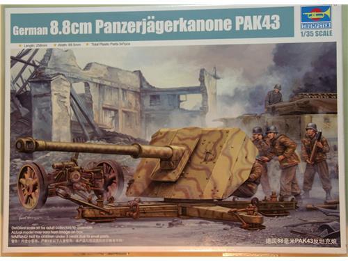 German 8.8 Panzerjagerkanone pak43 - kit Trumpeter 1/35