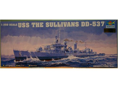 USS The Sullivans DD-537 - kit navi Trumpeter 1/350