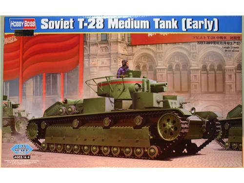Soviet T-28 Medium Tank (Early) - kit hobby boss 1/35