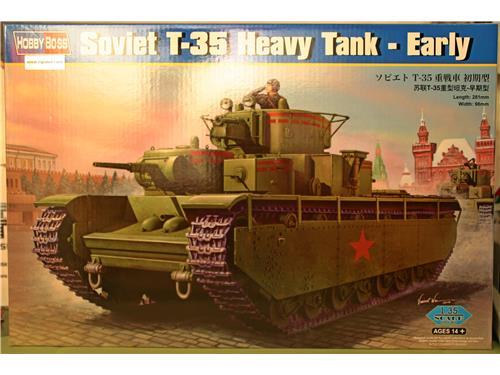 Soviet T-35 Heavy Tank - Early - art. 83841 - kit Hobby Boss 1/35
