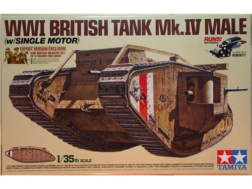 WWI British Tank Mk.IV Male (w/single motor) - kit carri Tamiya 1/35