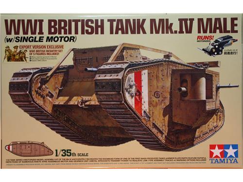 WWI British Tank Mk.IV Male (w/single motor) - kit carri Tamiya 1/35