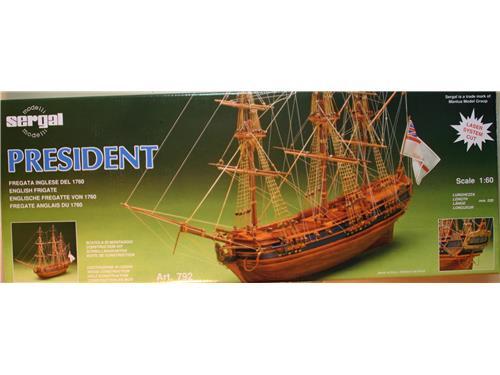 President - fregata inglese del 1760- art.792 - modelli Sergal