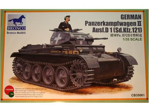 German Panzerkampfwagen II Ausf.D 1 (Sd.Kfz.121) Bronco models 1/35