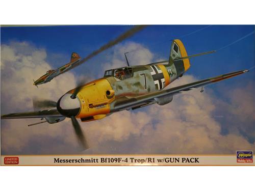 Messerschmitt Bf109F-4 Trop/R1 w/gun pack- kit hasegawa 1/48