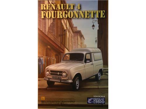 Renault 4 Fourgonnette - kit auto Ebbro 1/24