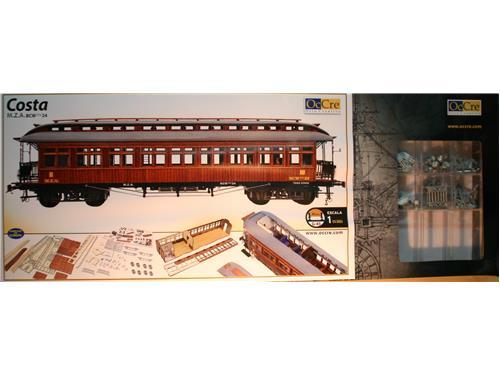 Carrozza ferroviaria - Costa M.Z.A. - BCW ffv24 - vagone OcCre 1/32