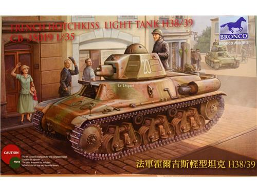 Carro armaro French Hotchkiss light tank h38/39 - Bronco 1/35