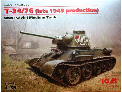 Carro armato T-34/76 (late 1943 production) ICM 1/12