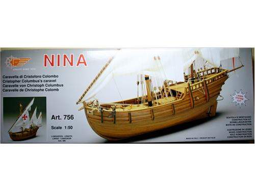 Nina - caravella di Cristoforo Colombo- art. 756 - Mantua Model 1/50