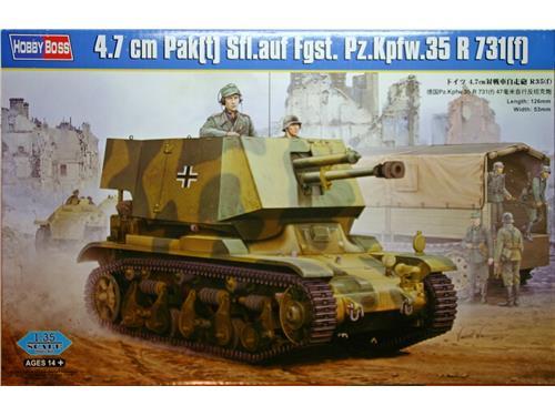 4.7 cm Pak(t) Sfl.auf Fgst. Pz.Kpfw.35 R 731(f) - art. 83807 - Hobby Boss 1/35
