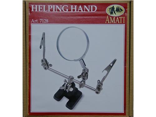 Terza mmano con lente - Helping hand - art. 7128 - Amati