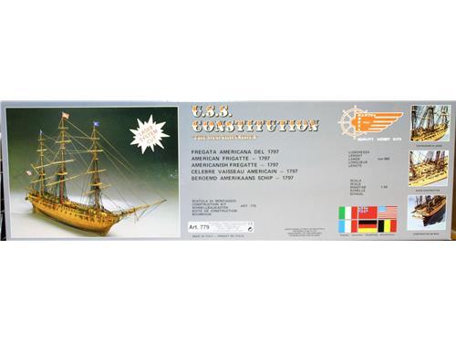 U.S.S. Constitution - fregata americana del 1797 - art. 779 - Mantua Model 1/98