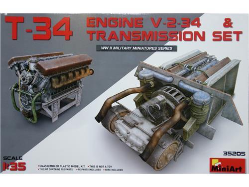 T-34 Engine V-2-34 & transmission set - art. 35205 - MiniArt 1/35