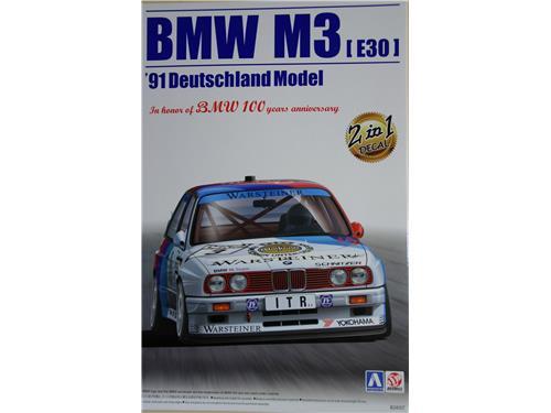 BMW M3 [E30] '91 Deutschland Model - art B24007 - Aoshima 1/24