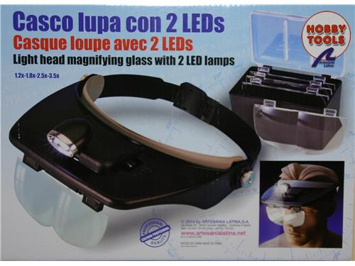 Casco con lente con 2 led - art. 270541 - Hobby Tools