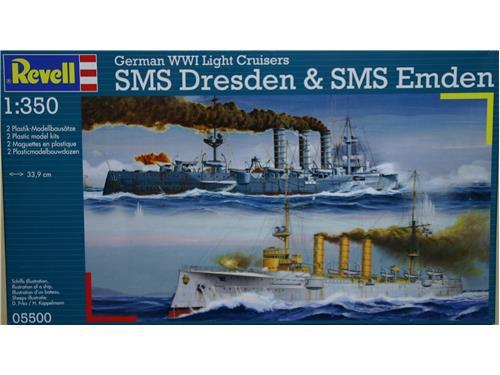 SMS Dresden  SMS Emden - art. 05500 - Revell 1/350