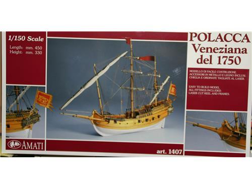 Polacca veneziana del 1750 - art. 1407 - modelli Amati 1/150