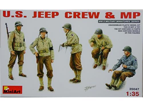 U.S. jeep crew & MP WWII - art 35047 - kit figurini Mini Art 1/35