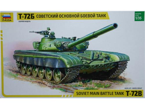 T-72B - soviet main battle tank - art. 3550 - Zvezda 1/35
