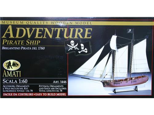 Adventure - brigantino pirata del 1760 - art. 1446 - Amati 1/60