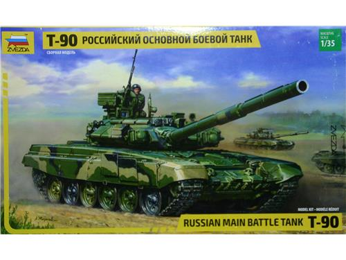 T-90 Russian main battle tank - art. 3573 - Zvezda 1/35