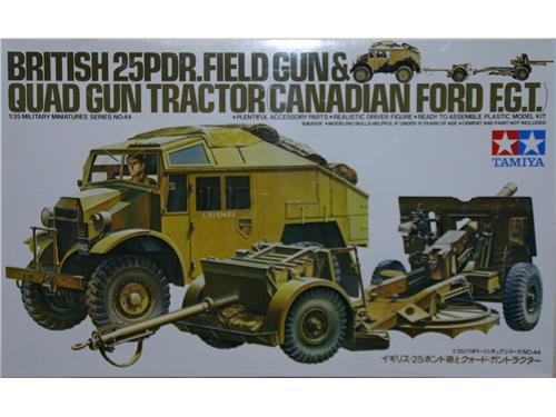 British 25PDR.field gun & Quad gun tractor (canadian ford F.G.T.)- art. 35044 - Tamiya 1/35