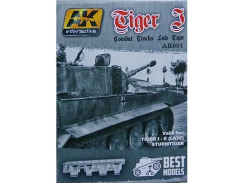 Cingoli in metallo Tiger I  - mod. AK681 - AK