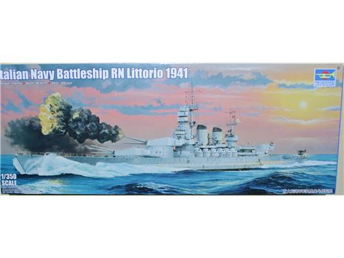 Italian navy battleship RN Littorio 1941 - art. 05319 - Trumpeter 1/350