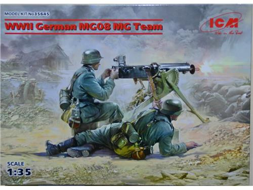 WWII German MG08 MG Team - art. 35645 - ICM 1/35