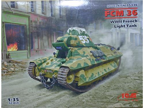 FCM 36 - WWII French light tank - art. 35336 - ICM 1/35
