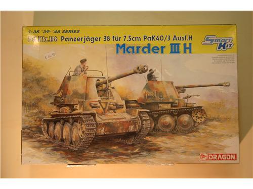Sd.Kfz.138 PanzerJager 38 Fur 7.5cm Pak40/3 Ausf.H - Marder III - modelli Dragon - modelli Dragon