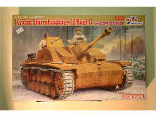 10.5cm Sturmhaubitze 42 Ausf.G w/zimmerit - modelli Dragon