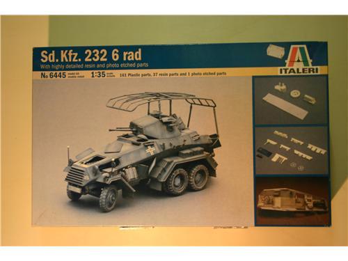Sd.Kfz. 232 6 rad - modelli Italeri