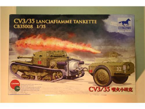 CV3/35 lanciafiamme - modelli Trumpeter