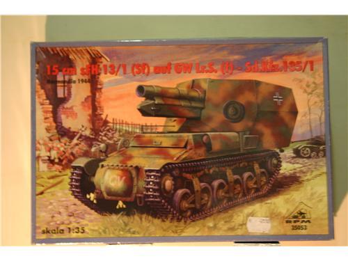 15 cm sFH 13/1 (Sf) auf GW Lr.S. (f) - Sd.Kfz.135/1 - modelli RPM