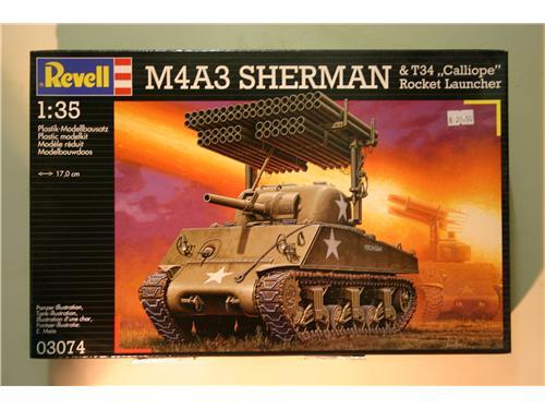 Carro armato U.S.A. con lanciarazzi - M4A3 Sherman - T34 Calliope  - modelli Revell