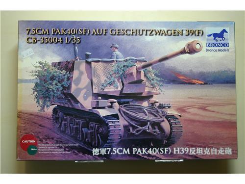 7.5 Pak40(SF) Auf Geschutzwagen 39(F)  - modelli Bronco Models