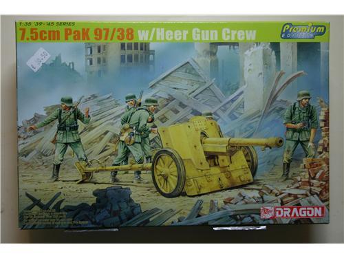 7.5cm Pak 97/38 w/Heer Gun Crew - modelli Dragon