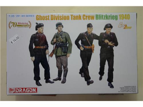 Ghost Division Tank Crew Blitzkrieg 1940 - art. 6654 - Dragon 1/35