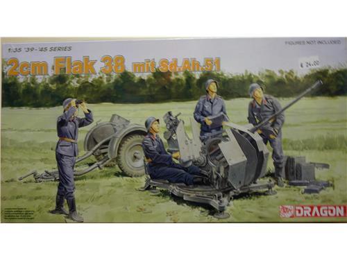 2cm flak 38 mit Sd.Ah.51 - art. 6288 - Dragon 1/35