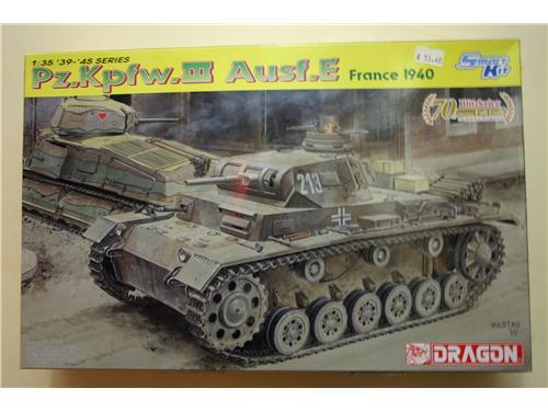 Pz.Kpfw.III Ausf:E France 1940 - modelli Dragon