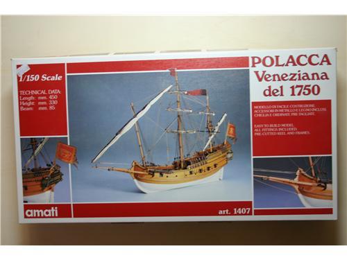 Polacca veneziana del 1750 - art. 1407 - modelli Amati
