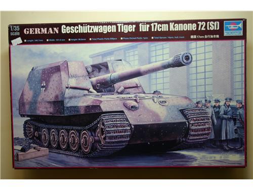 Gerrman Geschutzwagen Tiger fur 17 cm kanone 72 (Sf) - modelli Trumpeter