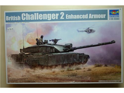 British Challenger 2 Enhanced Armour - modelli Trumpeter