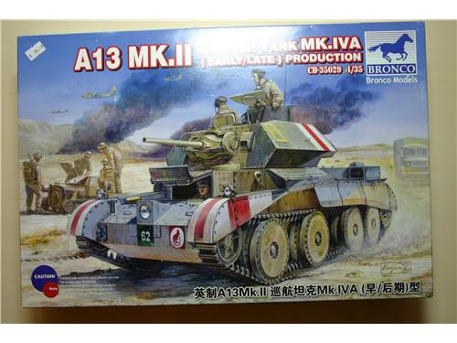 A13 MK.II Cruiser Tank MK.IVA (early/late) Production - modelli Bronco Models