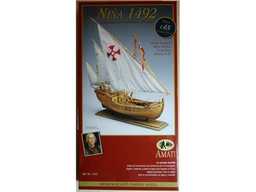 Nave, Nina 1492, Caravella di Cristoforo Colombo  art.1411 - Amati 1/65