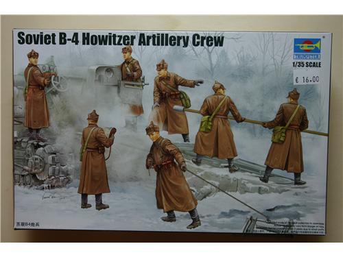 Soviet B-4 Howitzer Artillery crew - modelli TRUMPETER 1/35 - art. 00427