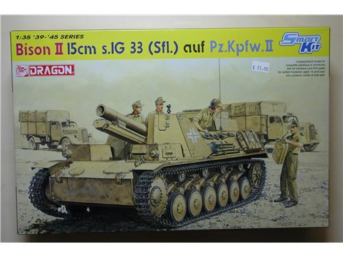 Bison II 15cm s.1G 33 (Sfl.) auf Pz.Kpfv.II - modelli Dragon