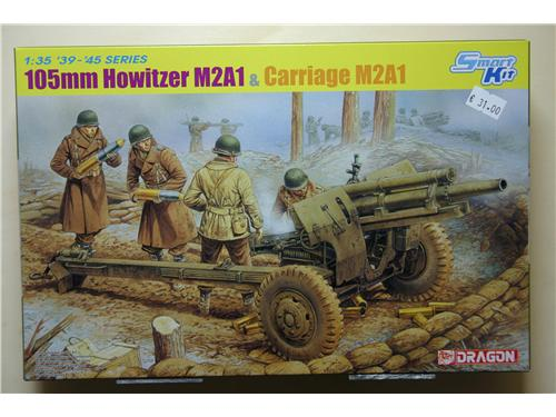 Obice 105 mm Howitzer M2A1 & carriage M2A1 - modelli Dragon